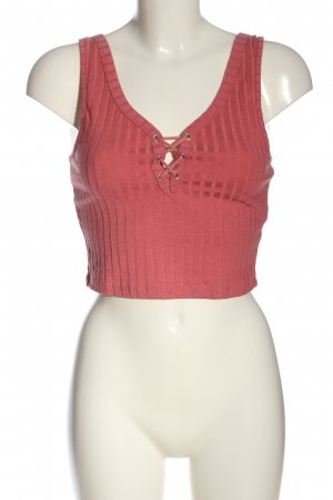 Basic Cropped top roze casual uitstraling