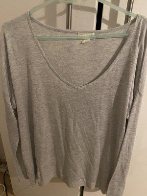 H&M Basic V-Neck Sweater light grey