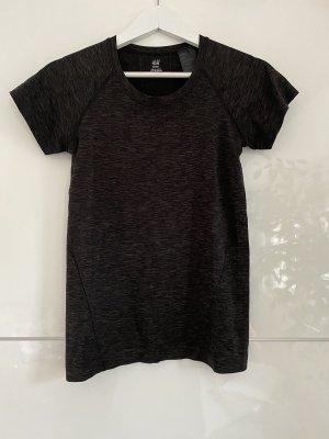 Basic grau schwarzes T-Shirt Top Sportoberteil von H&M 38 M