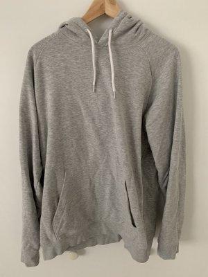 H&M Pull à capuche gris clair-gris