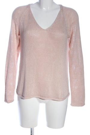 Basic Pull en crochet crème style décontracté