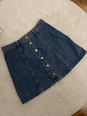 basic high waist jeansrock a-linie