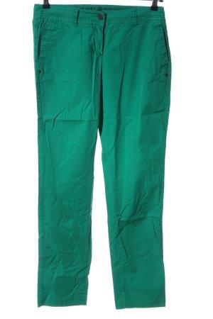 Basic pantalón de cintura baja verde look casual