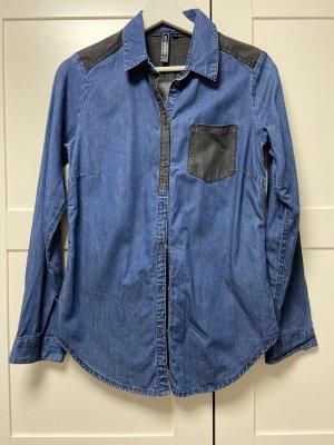 bpc bonprix collection Denim Blouse black-blue