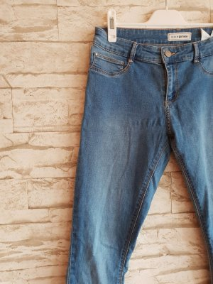 Pimkie Hoge taille jeans leigrijs-lichtblauw