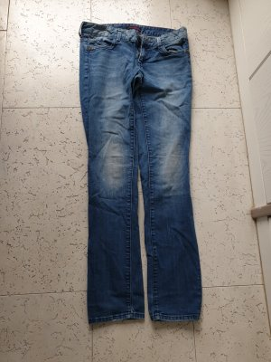 Tom Tailor Denim Jeansy z prostymi nogawkami stalowy niebieski Bawełna