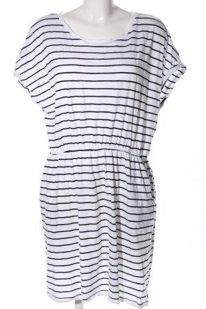 Basic Abito jersey nero-bianco motivo a righe stile casual
