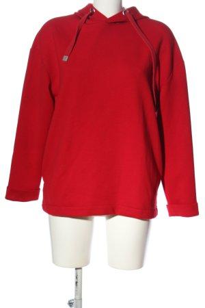 Basic Felpa con cappuccio rosso stile casual