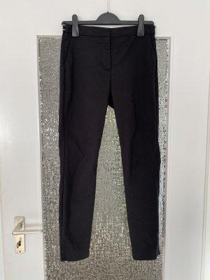 basic klassische chinohose in schwarz weiß