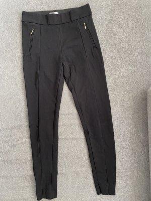 basic klassische leggings in schwarz