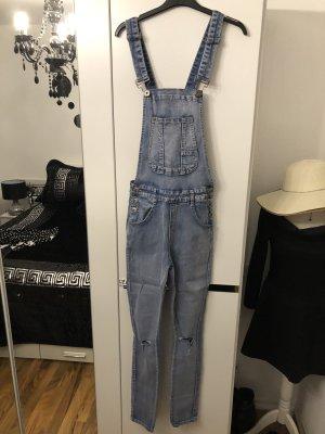 Jeans met bovenstuk blauw-zilver