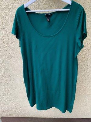 Basic Kleid Flaschengrün