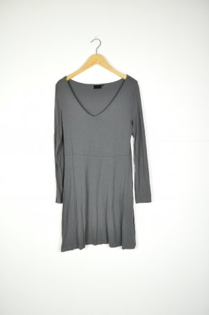 Basic Kleid in Grau aus Jersey