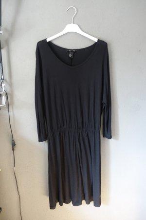 H&M Vestido de tela de jersey negro Viscosa