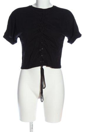 Basic Kurzarm-Bluse