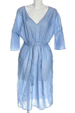 Basic Robe à manches courtes bleu motif rayé style décontracté
