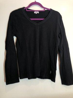 Basic langarm Shirt schwarz, Gr. L, myOwn