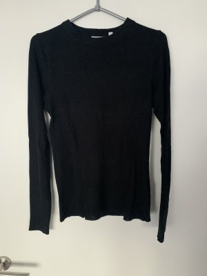 Brave Soul Prążkowana koszulka czarny