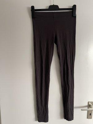 basic leggings in dunkelbraun , dünner fester stoff