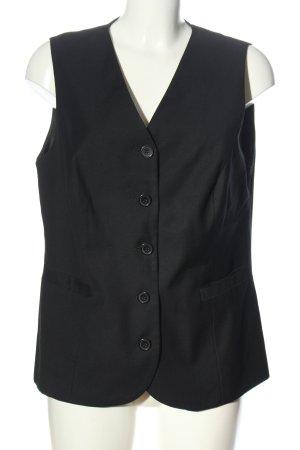 Basic Line Waistcoat black casual look