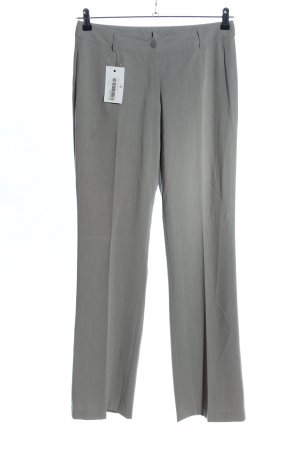 Basic Line Pleated Trousers light grey business style