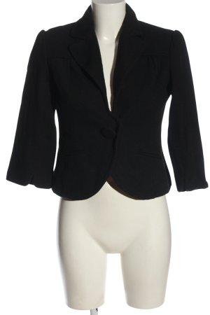 Basic Line Korte blazer zwart zakelijke stijl