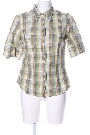 Basic Line Short Sleeve Shirt check pattern casual look