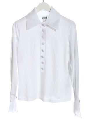 Basic Line Bluzka z długim rękawem biały Elegancki