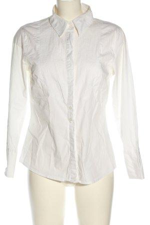 Basic Line Long Sleeve Shirt white business style