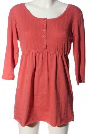 Basic Line Long Blouse pink casual look
