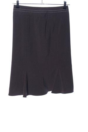 Basic Line Midi Skirt black casual look
