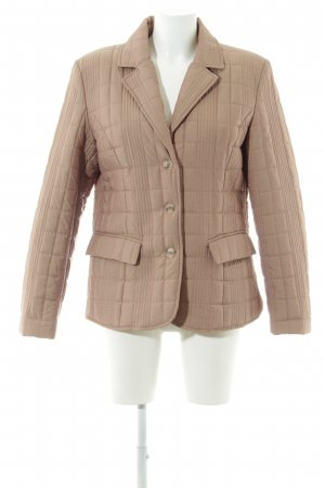Basic Line Quilted Jacket beige-dark red casual look