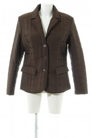 Basic Line Quilted Jacket grey brown casual look