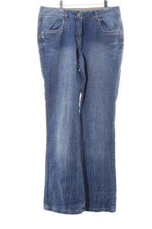 Basic Line Straight Leg Jeans blue casual look