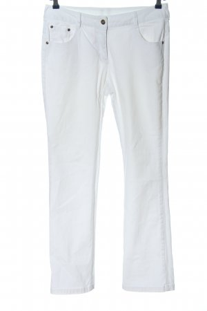 Basic Line Straight Leg Jeans white casual look