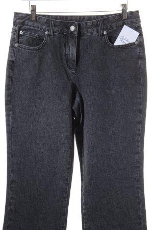 Basic Line Straight Leg Jeans dark grey-grey casual look