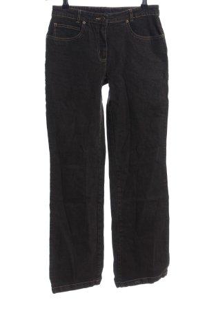Basic Line Straight-Leg Jeans schwarz Casual-Look