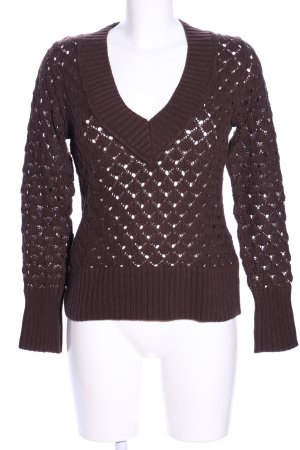 Basic Line Knitted Sweater brown casual look