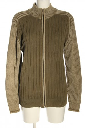 Basic Line Sweat Jacket bronze-colored-nude striped pattern casual look