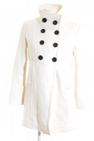 Basic Line Wool Coat white elegant