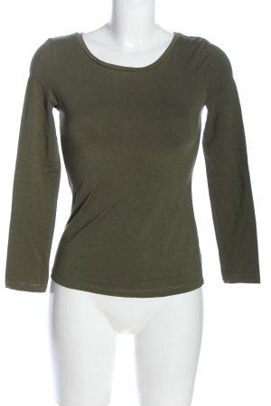 Basic Longsleeve khaki casual look