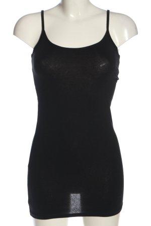 Basic Lange top zwart casual uitstraling