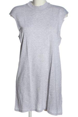 Basic Robe courte gris clair moucheté style décontracté