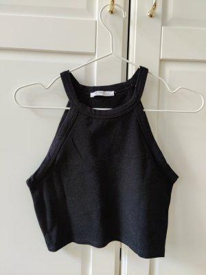 Basic Neckholder Crop Top von Zara