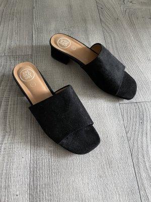 24Colours Heel Pantolettes black