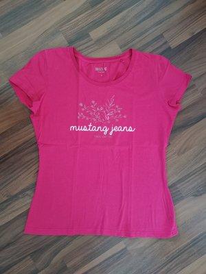 Basic Print T-Shirt von Mustang in Gr. M