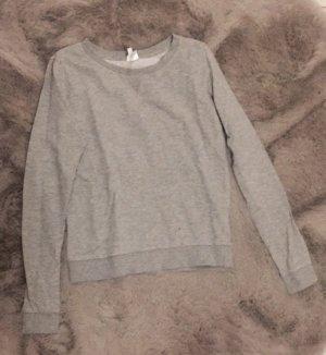 H&M Długi sweter szary-jasnoszary