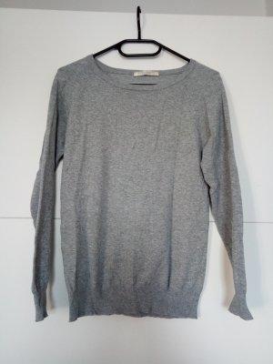 Zara Basic Pull ras du cou gris clair