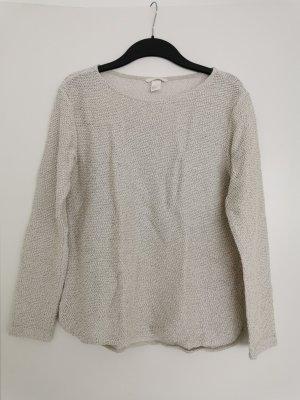 Basic-Pullover in Creme-Schwarz
