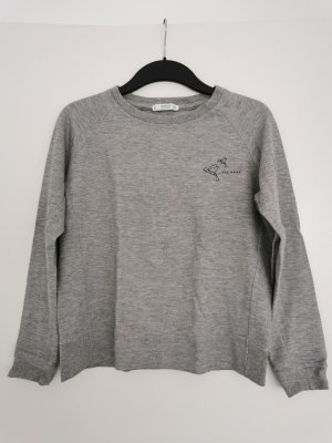 Basic-Pullover in Grau